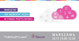 Jak wdrożyć RODOw firmie pożyczkowej - warsztat - 23 listopada, Warszawa