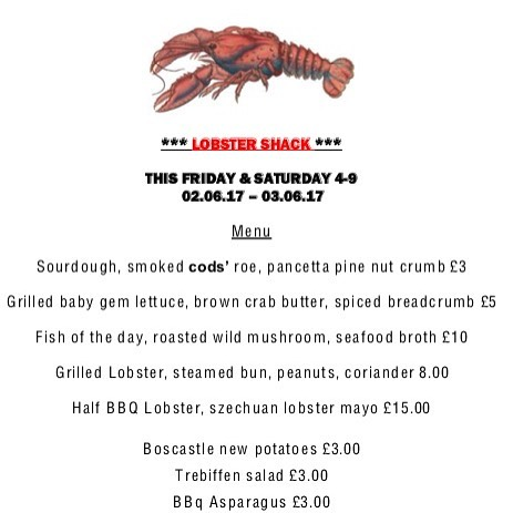 Exciting news .. first pop up of the season . Looking foward to it greatly 🦐🦀🍾