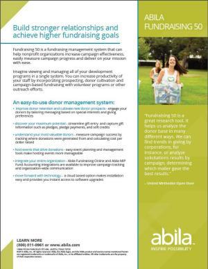 Abila Fundraising 50