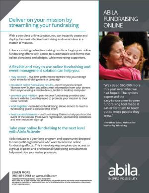 Abila Fundraising Online