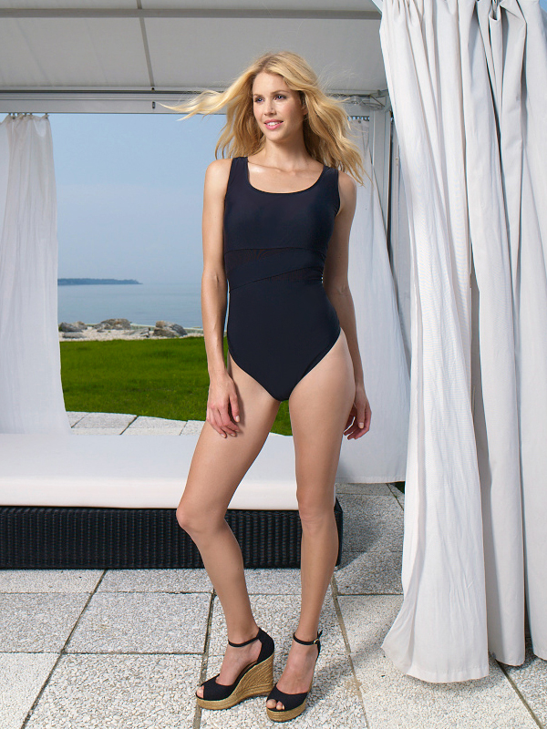 Style Name:Catalina Asymmetrical One-Piece Mesh Style #:CL31101Y Asymmetrical One-Piece; mesh insets; soft cup Visit Walmart