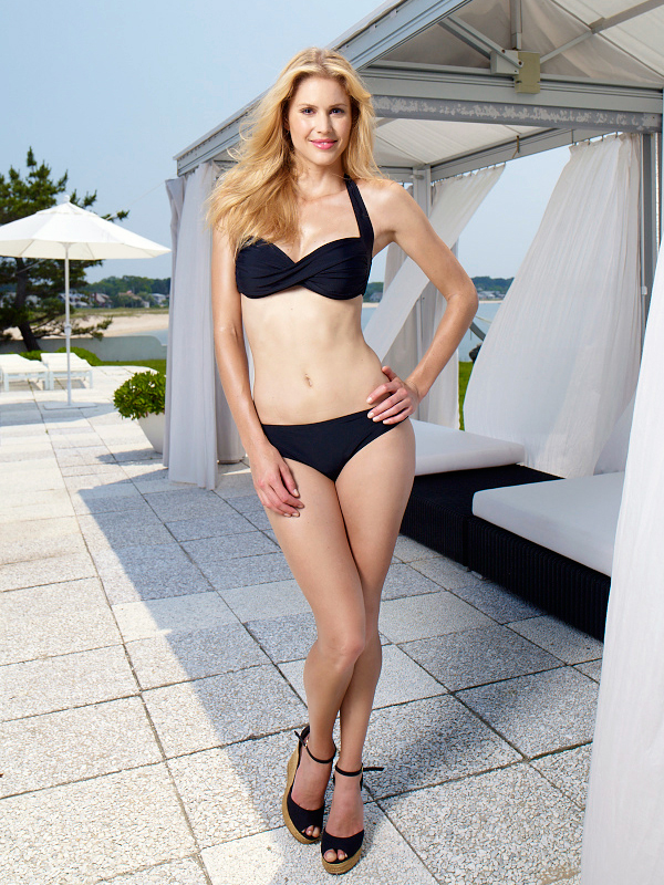 Style Name: Rich Black Twist Bandeau with Scoop Bottom Style #: Top:CL31200Y Bottom:CL31500Y Twist bandeau top; Removable soft cups. Bottom fully lined Visit Walmart