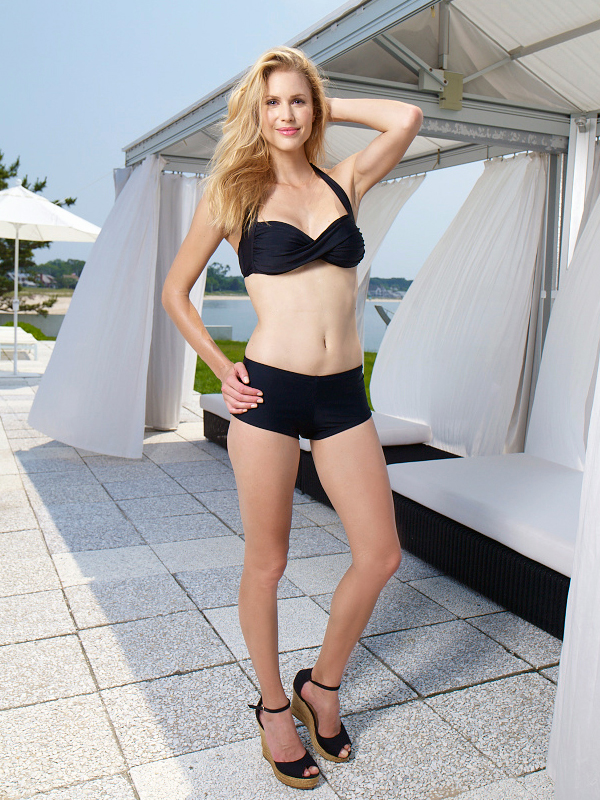Style Name: Rich Black Twist Bandeau with Boy Short Bottom Style #: Top:CL31200Y Bottom:CL31801Y wist front bandeau top; Removable soft cups. Bottom fully lined Visit Walmart