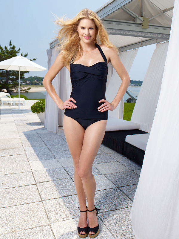 1f5c8d14c4 Style Name: Rich Black Twist Tankini with Scoop Bottom Style #: Top:CL31440Y