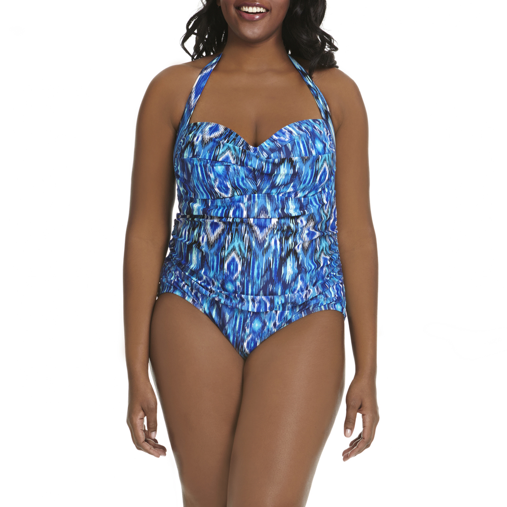 Ikat Retro Twist One-Piece