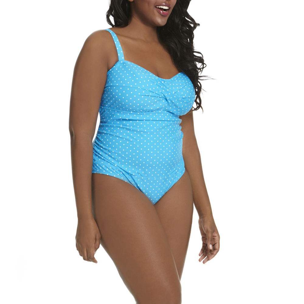 Polka Dot Retro Twist One-Piece