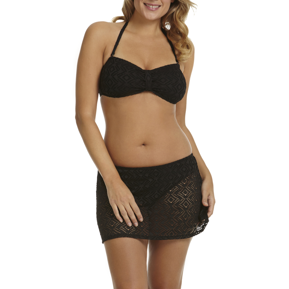 Rich Black Crochet Bikini