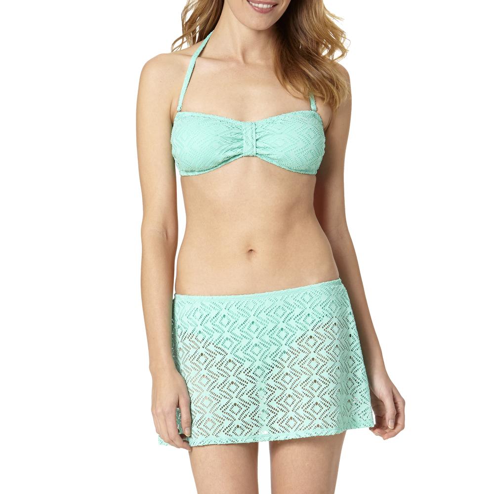Teal Cream Crochet Bikini