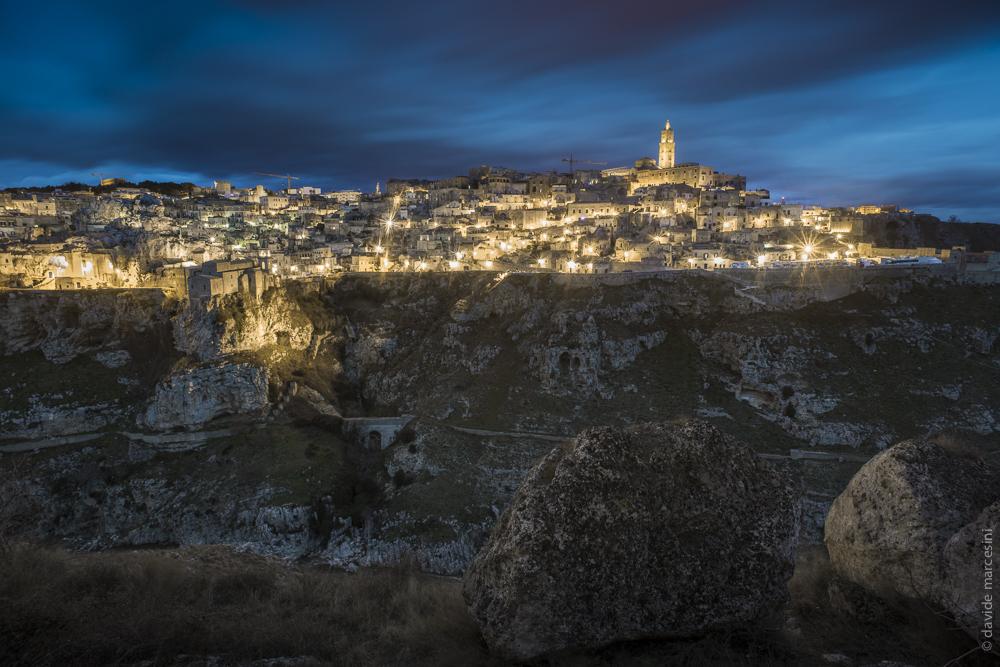 Con questa vista notturno/albeggiante inizia l'avventura a Matera, ecco qui il PROGRAMMA COMPLETO