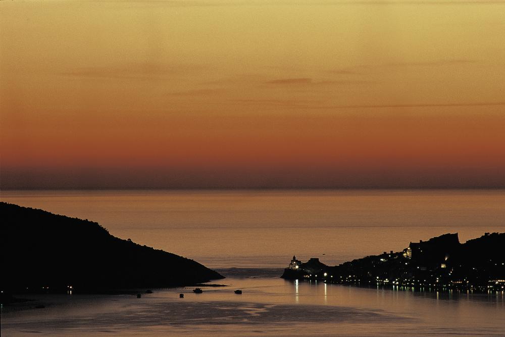 Portovenere subito dopo il tramonto