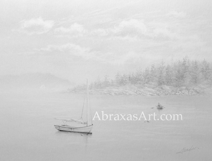 Northern Harbor, a pencil sketch by Abraxas.