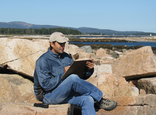 Abraxas sketching Acadia National Park
