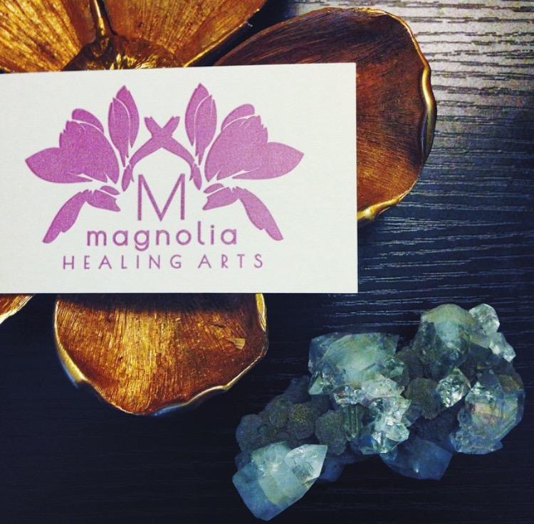 Magnolia Healing Arts letterpress cards.