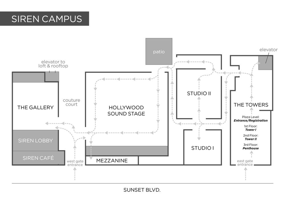 COUTURE L.A. Campus Map at Siren Studios