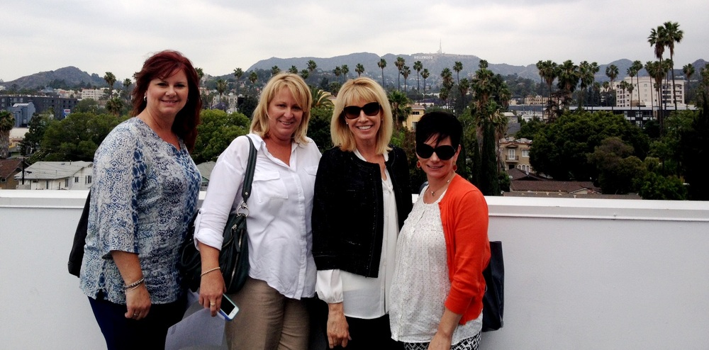 Maggie Sottero's Katrina Webster, Kelly Midgley, Diana Pace, and Christina Blanchette visiting Siren Studios in April