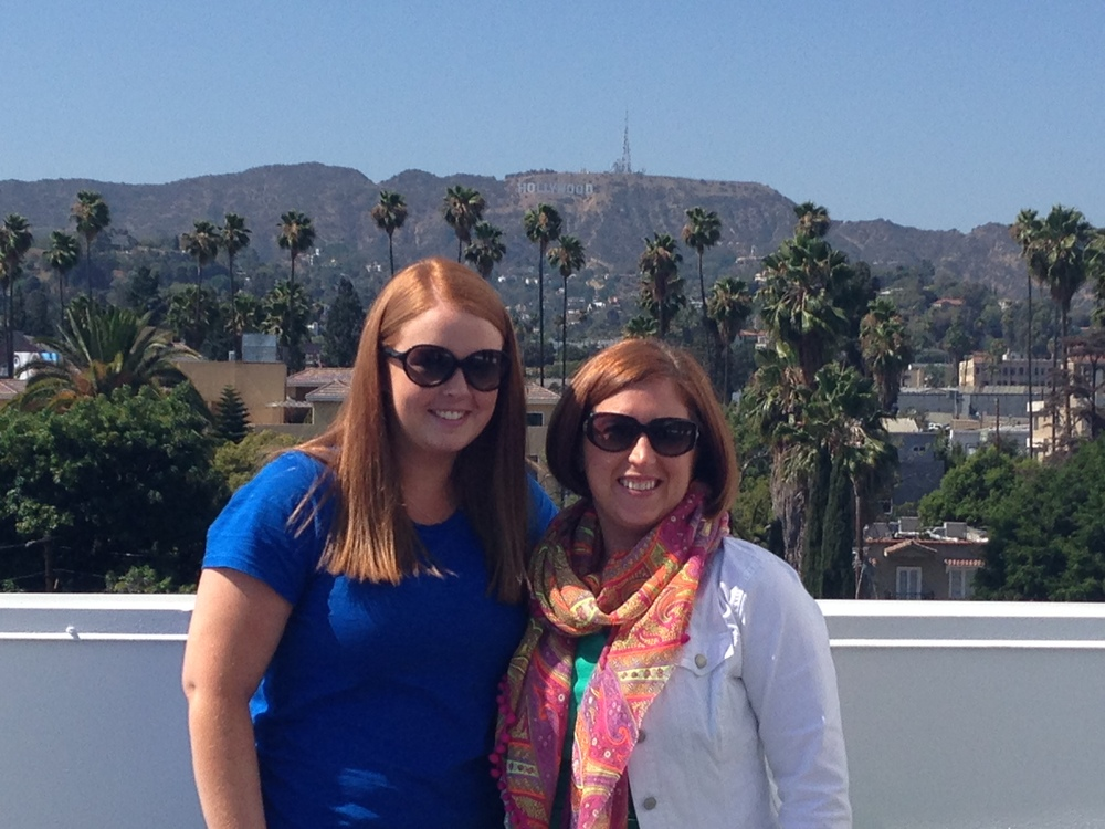 Liz Miller, Local Strategy Specialist for The Knot and Leslie Karrer, Fashion Account Executive for The Knot on Siren Studios rooftop