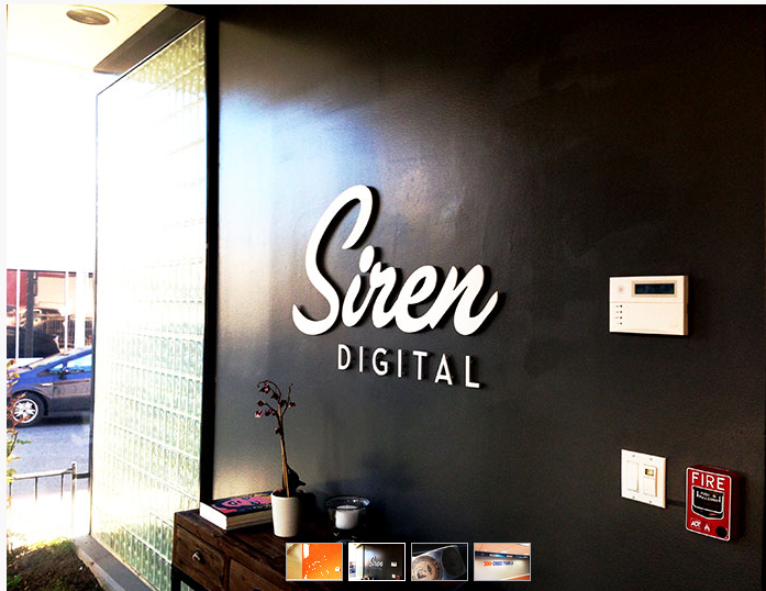 The Atwater Art Co interior signage at Siren Digital