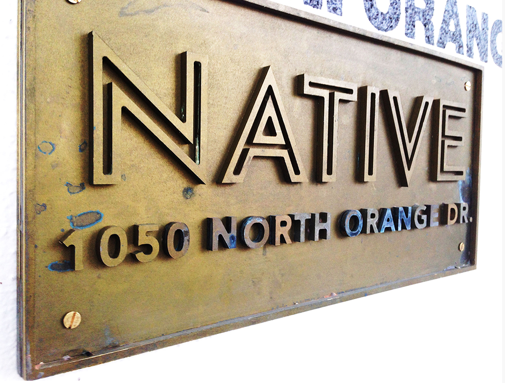 The Atwater Art Co custom sign for NATIVE