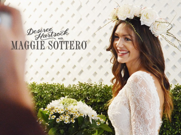 Desiree Hartsock with Maggie Sottero