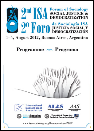 Programme for the ISA's 2nd Forum of Sociology, held in Buenos Aires.