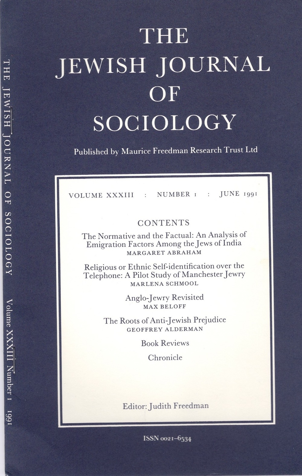 Jewish Journal of Sociology 1991.jpg