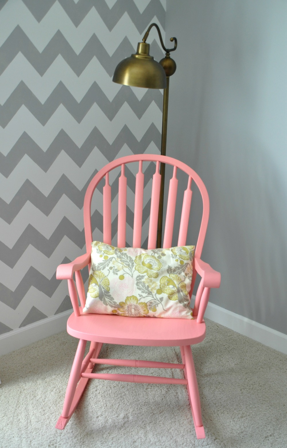 Painted Rocking Chair, Chevron Wall, Gold Lamp.jpg
