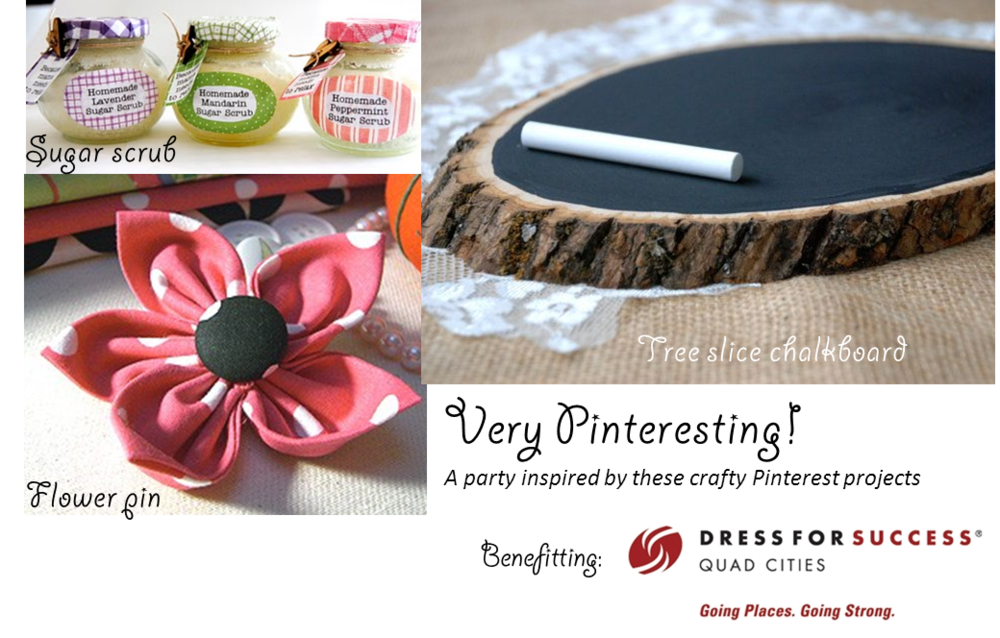 Photos above are inspiration for our crafts via  Maybe Matilda  (sugar scrub),  The Preppy Owl  (fabric flower) and Our Sweet Serindipity (chalkboard).