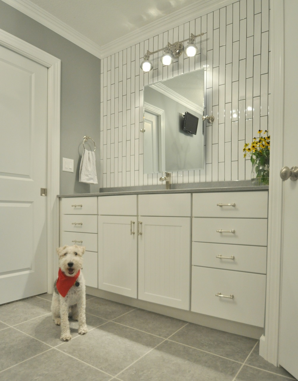 Master bathroom reveal decor and the dog Master tiles design for kitchen