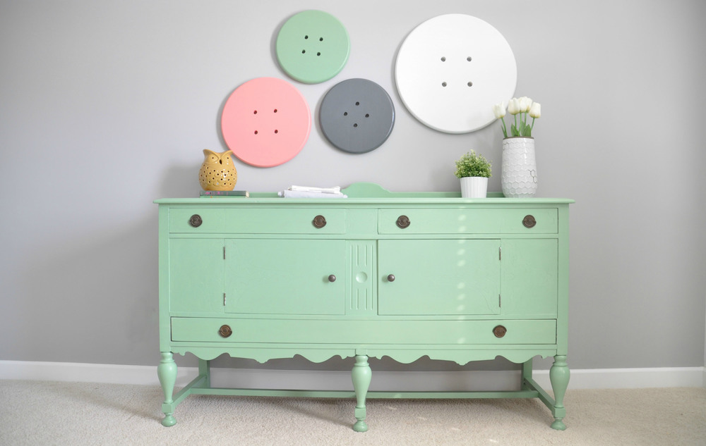Giant Buttons Wall Decor