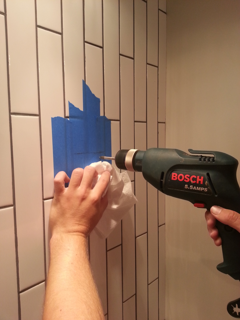How To Drill Through Bathroom Tiles