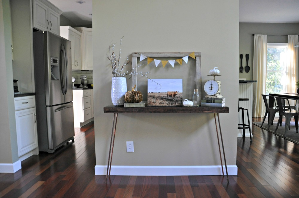 console table decor. Fall Console Table {Decor Home Tour: Modern And Fresh \u2014 Decor The Dog B