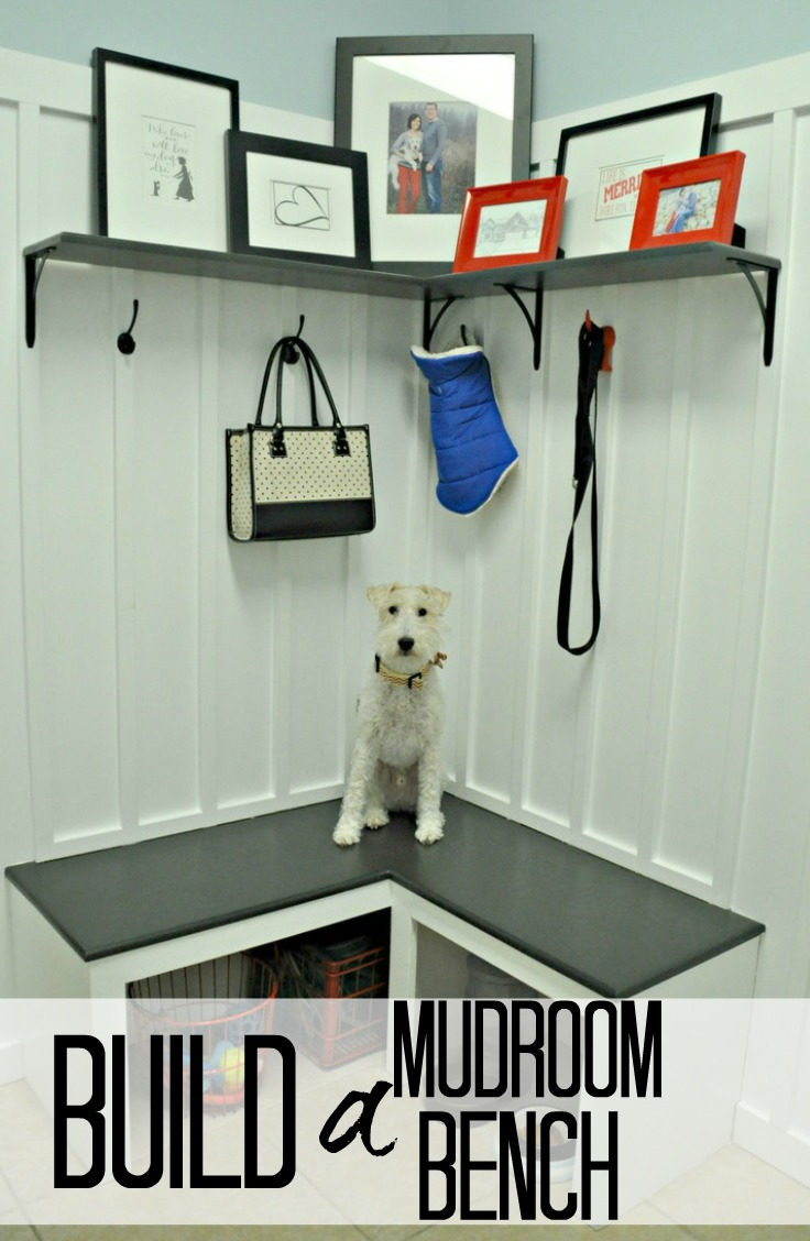 Mudroom bench decor and the dog for Building a mudroom bench