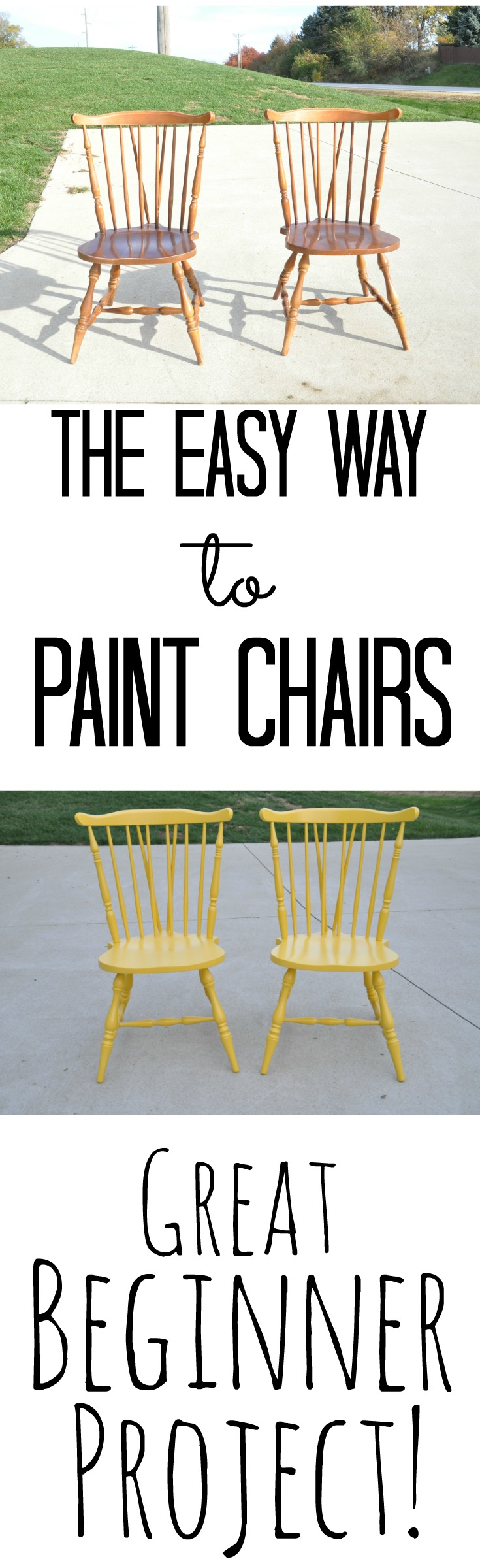 The Easy Way to Paint Chairs {Great Beginner Project}.jpg