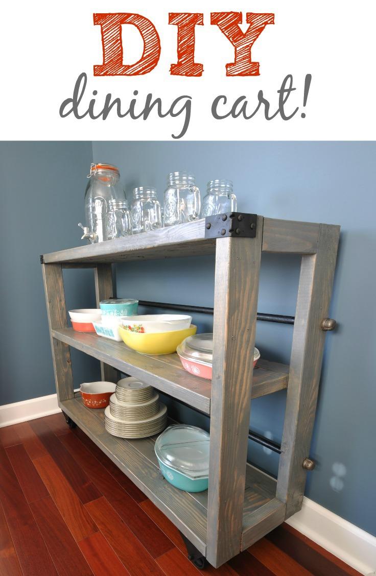 DIY dining cart. Unique furniture build!
