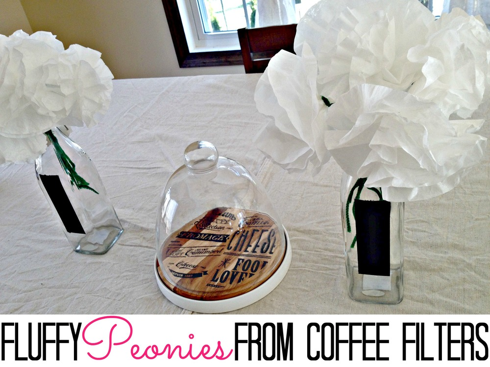 Coffee Filter Peonies from Finding Silver Linings