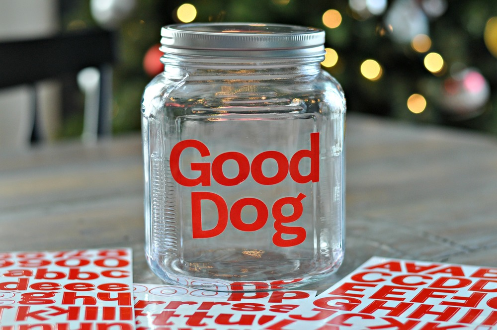 DIY Good Dog Treat Jar