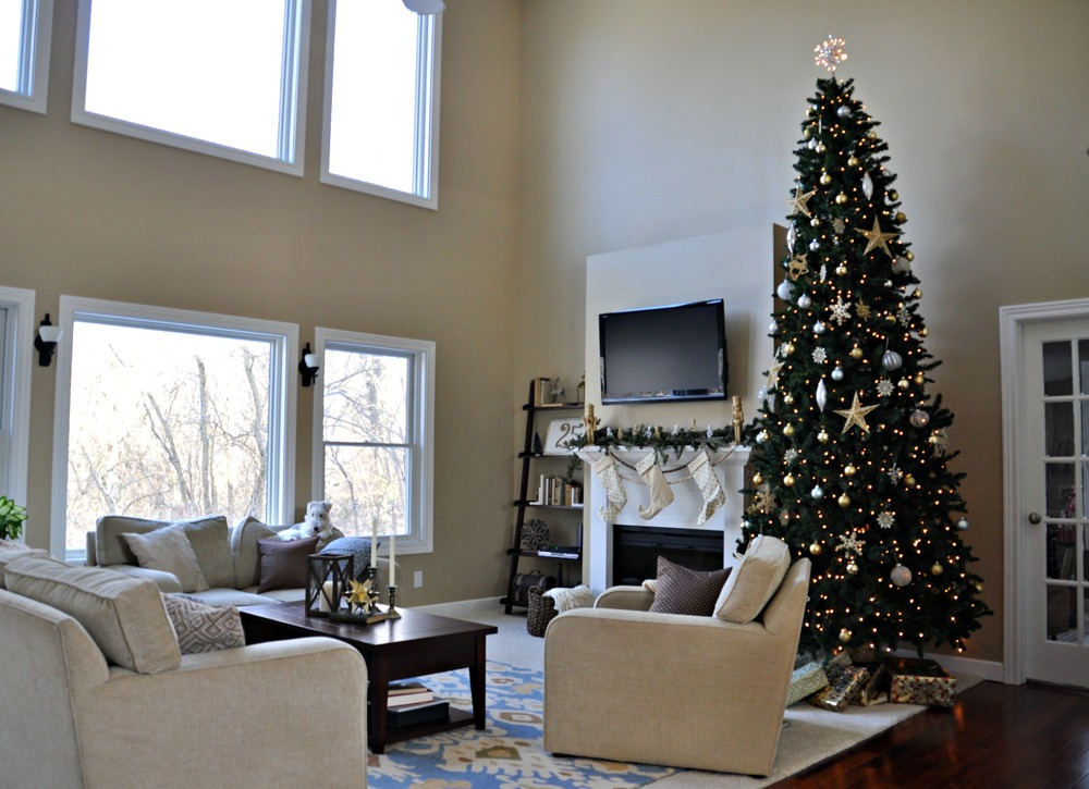 Holiday home tour living room decor and the dog for S carey living room tour