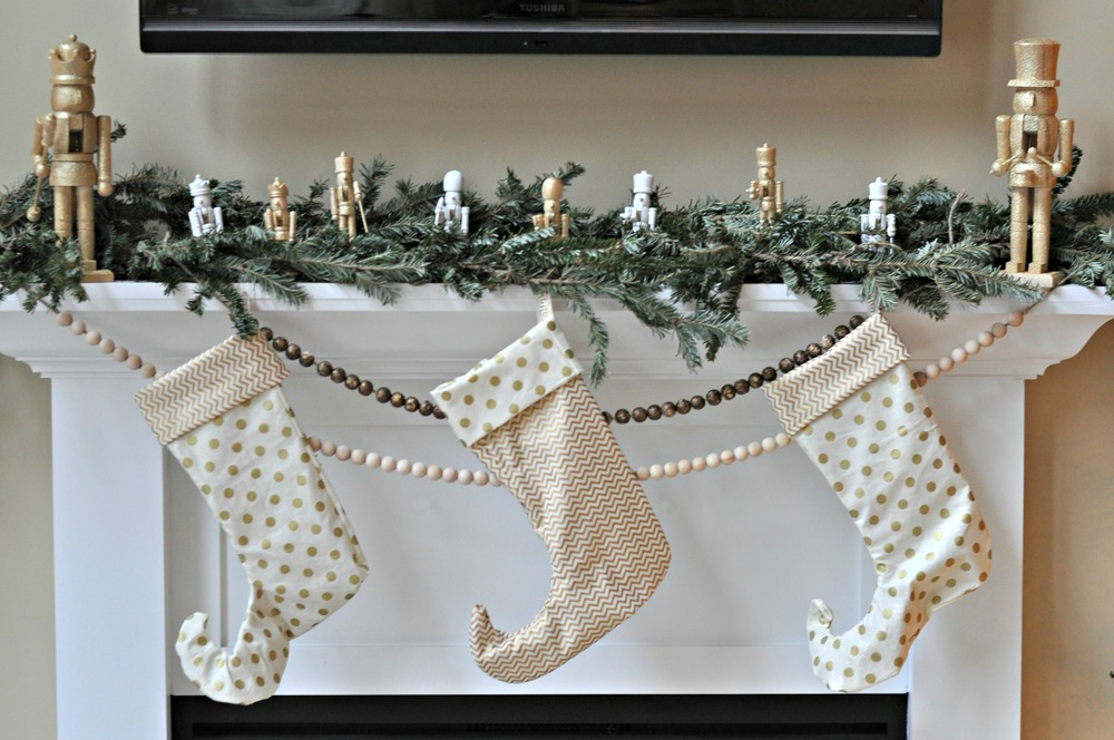 Holiday 2013 Mantel {decor and the dog}