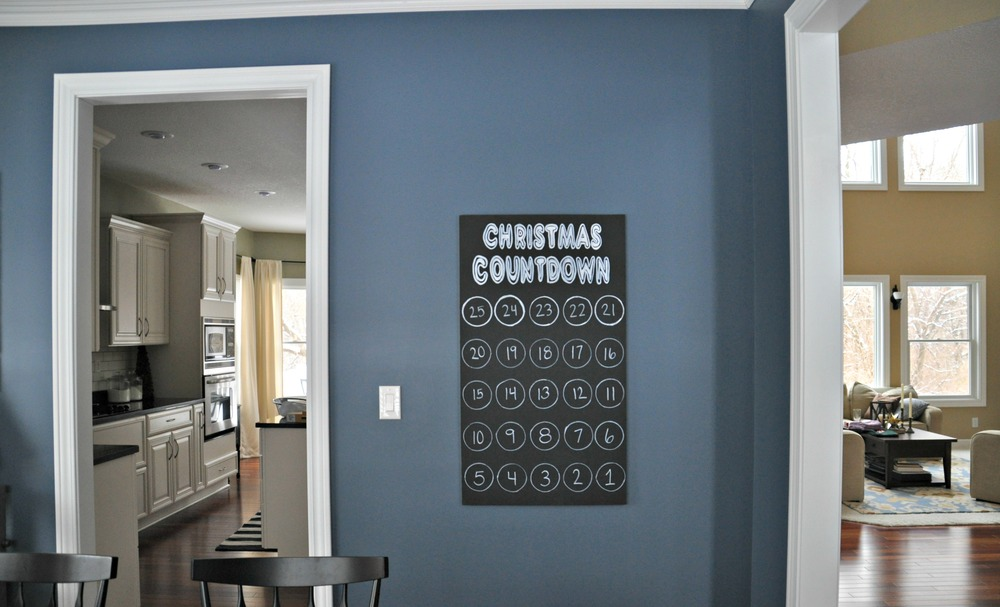 Christmas Countdown Art {decor and the dog}
