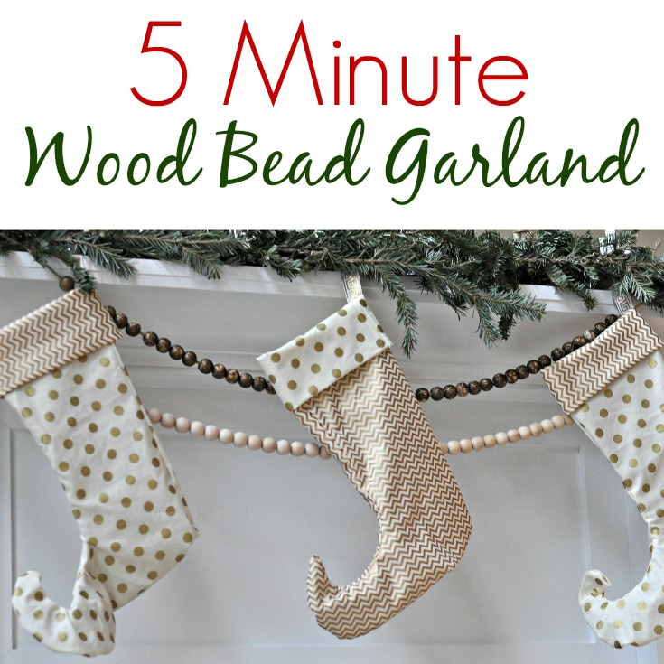 5 Minute Wood Bead Garland