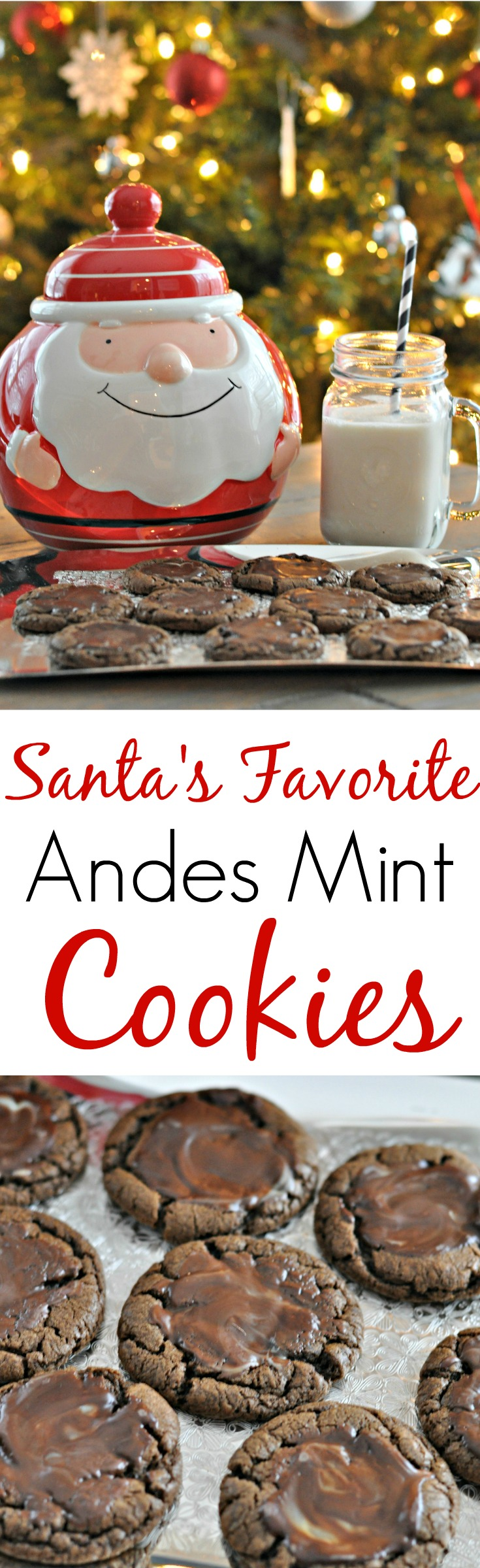 Andes Mint Cookies {decor and the dog}