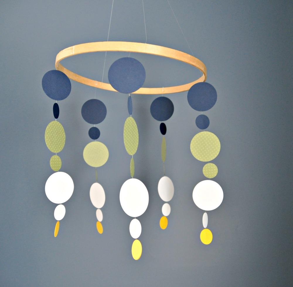 Diy nursery mobile tutorial decor and the dog - Painting nursery ceiling ideas tips ...