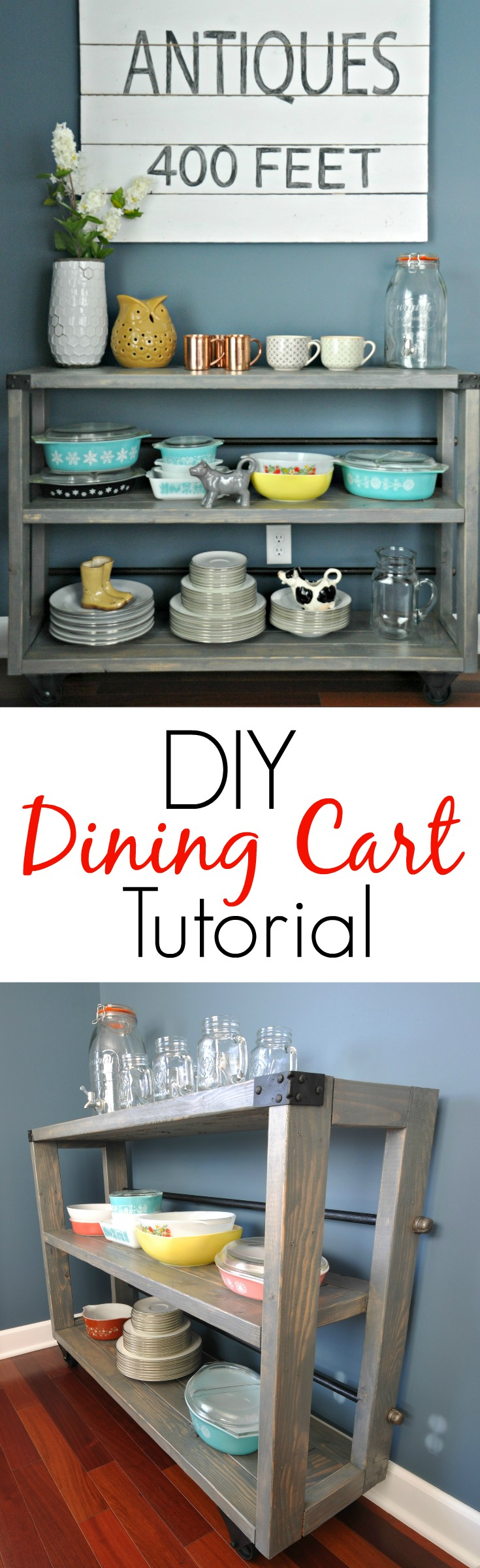 DIY Dining Cart Tutorial | Decor and the Dog