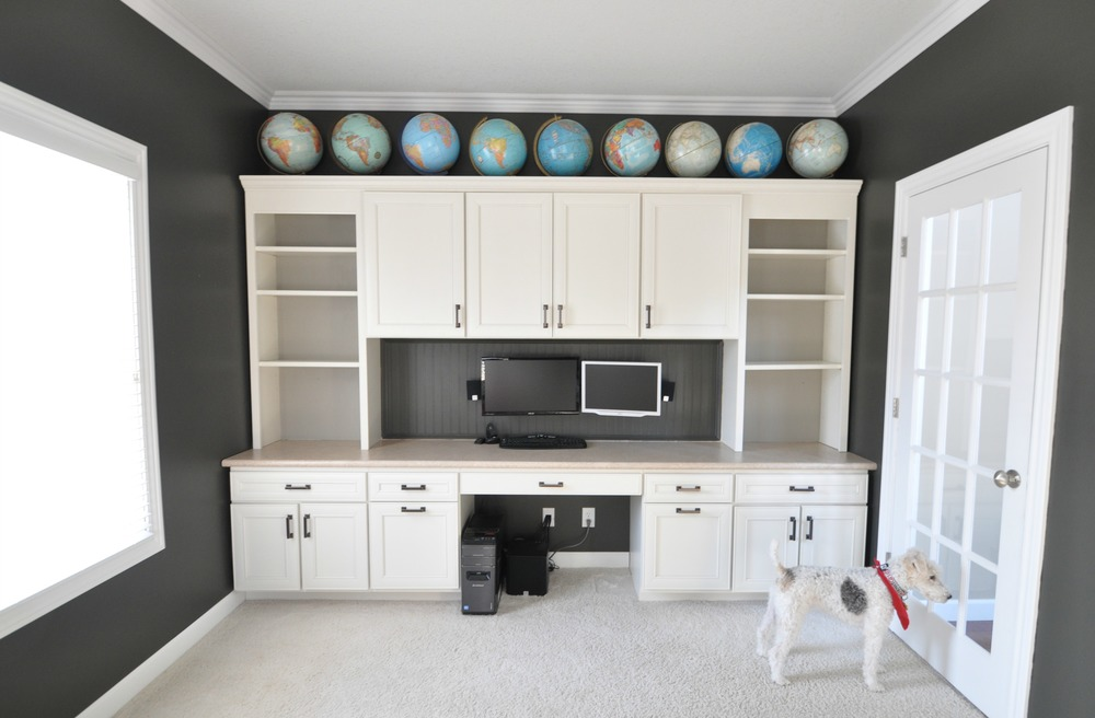 Office Built-ins SW Fawn Brindle | Decor and the Dog