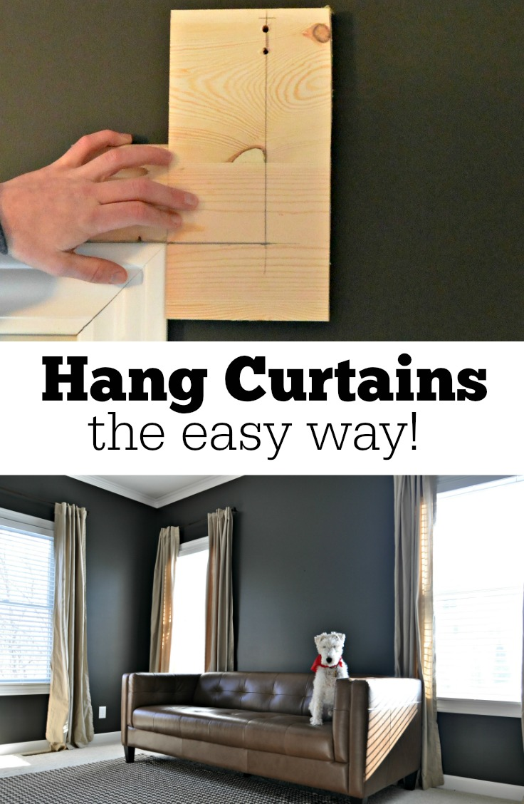 how to hang up curtain rods how to hang curtains the easy way decor and the 8674