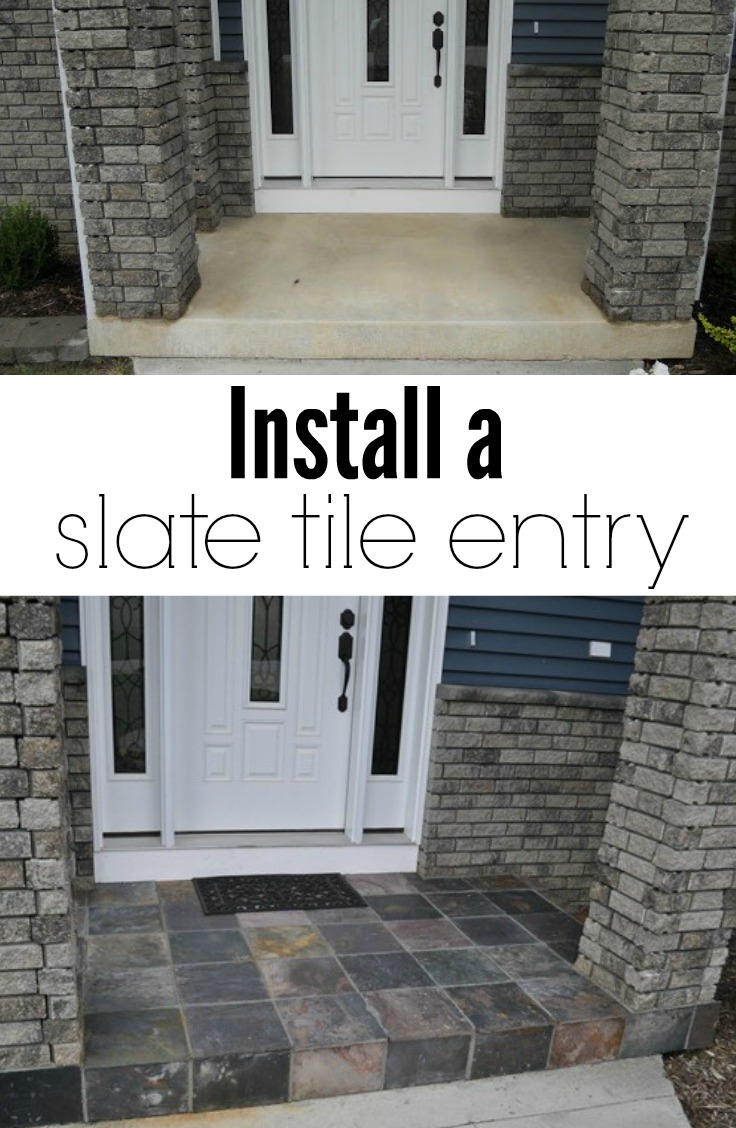 Slate tile porch decor and the dog - Easy ways of adding color to your home without overspending ...
