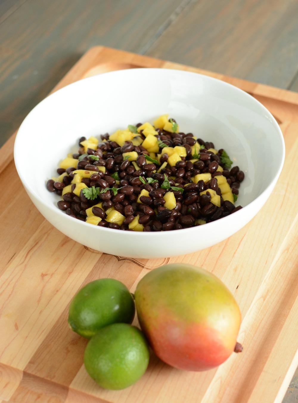 Mango, Black Bean and Lime Salsa Salad