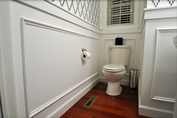 Then and Now- Powder Room | Decor and the Dog