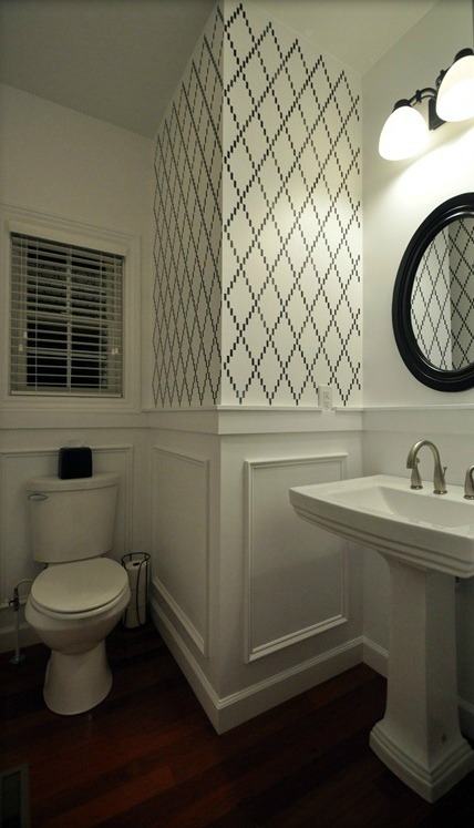 Then and Now- Powder Room — Decor and the Dog