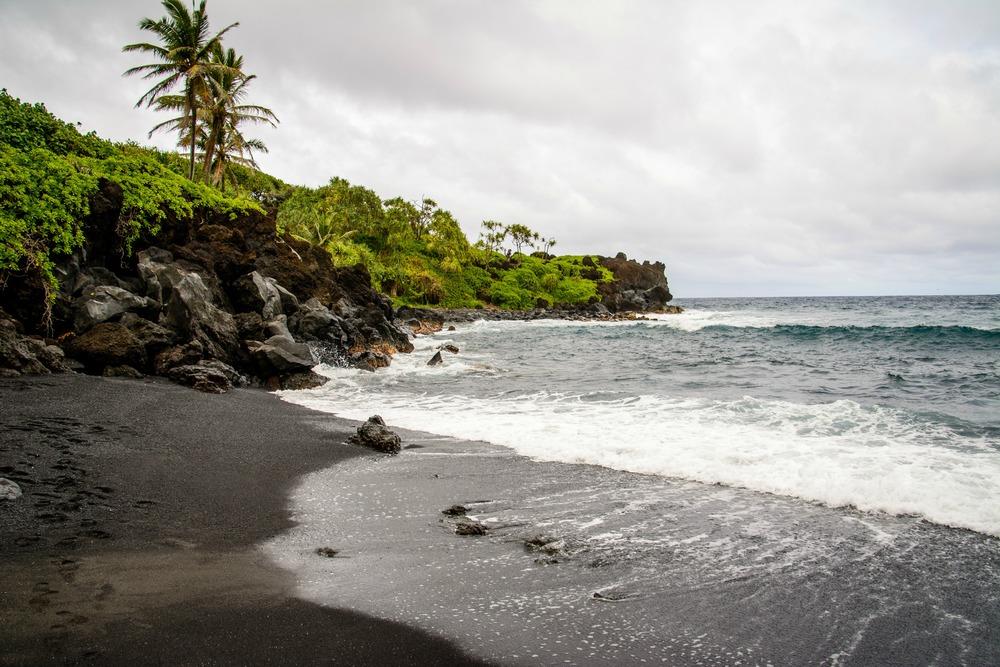 Road to Hana- Black Sand Beach